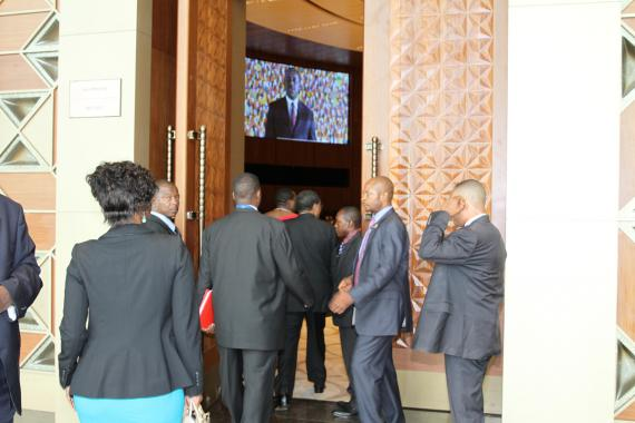 Participants entering Conference Hall 2