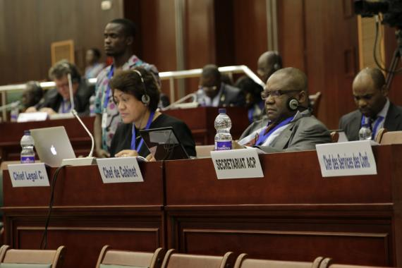 ACP Secretariat staff during the Council of Ministers meeting