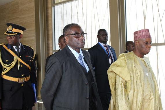 President of the Republic of Zimbabwe H.E Comrade Robert G. Mugabe in Malabo