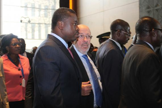Co-President of the ACP-EU Joint Parliamentary Assembly Hon. Louis Miche with Togo President H.E Faure Essozimna Gnassingbe