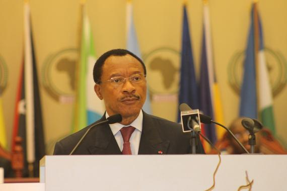 Cameroon's Minister for Economy and National Planning/ President of the ACP Council of Ministers H.E Emmanuel Nganou Djoumessi