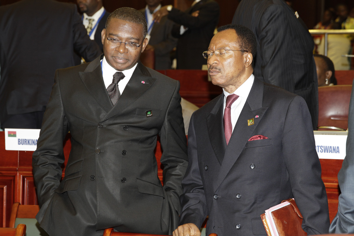 Minister for Economy and National Planning of Cameroon & President of ACP Ministers Council H.E Emmanuel Nganou Djoumessi (right