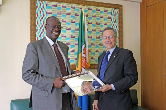 ACP Secretary General farewells longtime staff member Mr. Mahamane Cisse, who was appointed as Mali's Ambassador to South Africa