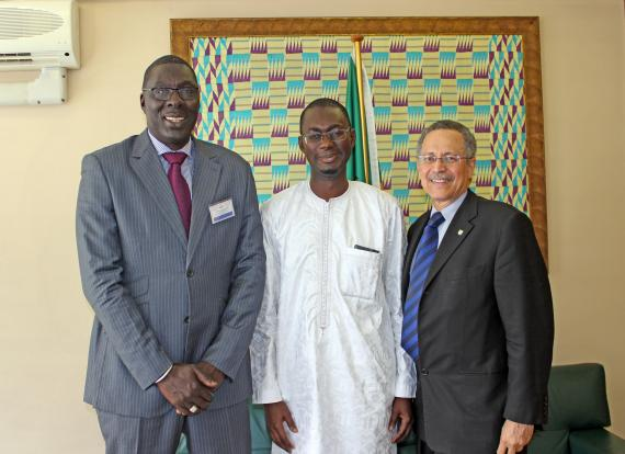 Minister of Trade, Industry, Regional Integration and Employment of the Gambia, Hon. Abdoulie Jobe at ACP House.