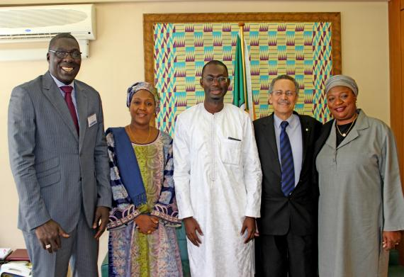 Delegation from the Gambia led by Trade Minister Hon. Aboulie Jobe and Ambassador of the Gambia to the EU H.E Teneng Mba Jaiteh.