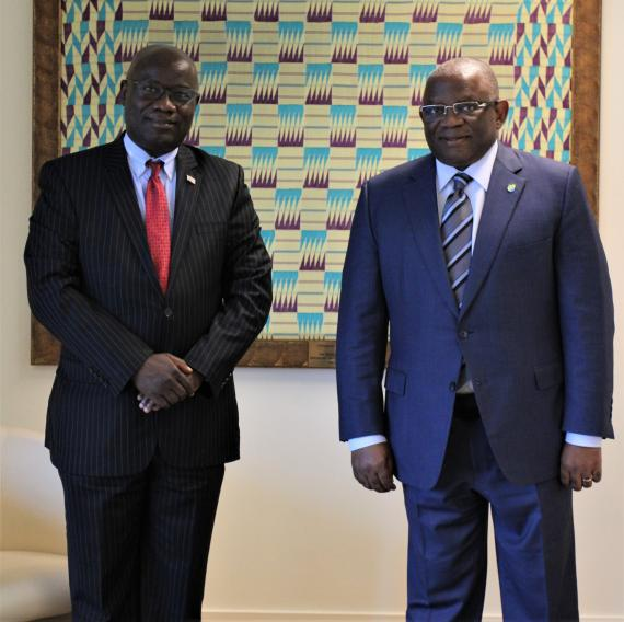 Meeting with H.E. Mr. Isaac W. Nyenabo II, Ambassador of the Republic of Liberia to the Kingdom of Belgium