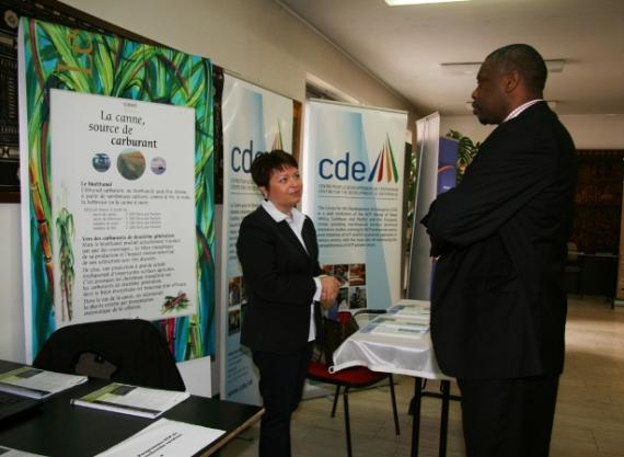 Lucien Lundula at the CDE booth