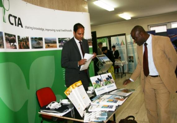 Technical Centre for Agricultural and Rural Co-operation (CTA) booth