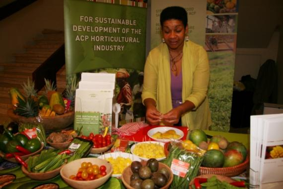 Delicious fruits and vegetables on display at the PIP table