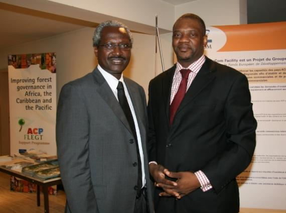 Lucien Lundula (right) from ACP Secretariat and Ferdinand Nyabenda, former Assistant-Sec. General in charge of SEDT