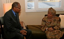 Mohamed Ibn Chambas with President Johnson Sirleaf
