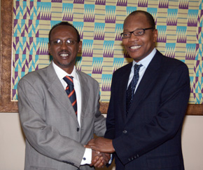 Ambassador Bogoreh and ACP Secretary General Dr Mohamed Ibn Chambas