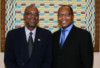 H.E Wilfred Eduard Christopher and Dr Mohamed Ibn Chambas