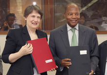 UNDP Helen clark ACP Group Mohamed Ibn Chambas MOU